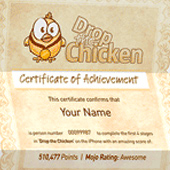 Drop The Chicken 2 - Claim Your Certificate